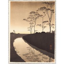 Koho: Canal by the Moonlight (Sepia Version) - Artelino