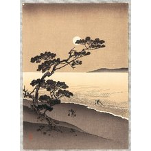 Arai Yoshimune: Suma Beach at Night (Sepia Version) - Artelino