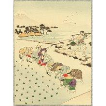 富岡英泉: Planting Rice - Artelino