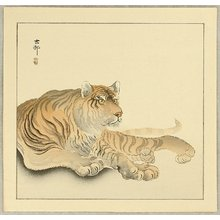 小原古邨: Reclining Tiger - Artelino