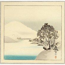 Ohara Koson: Snow Covered Mountain - Artelino