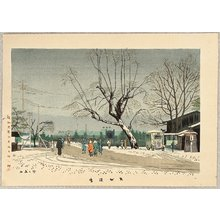 Fujishima Takeji: Light Snow at Demachi - Artelino