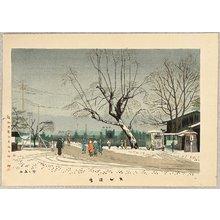 Fujishima Takeji: Light Snow at Demachi - Artelino