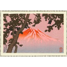 川瀬巴水: Mt. Fuji seen from Tagonoura - Artelino