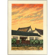 Nishijima Katsuyuki: Sunset at Kizu - Artelino
