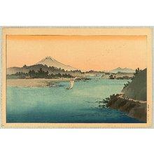 Yoshimoto Gesso: Mt.Fuji and River - Artelino