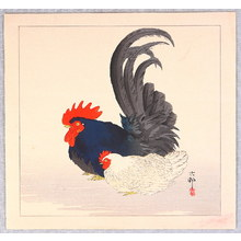 Ohara Koson: Rooster and Hen - Artelino