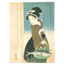 武内桂舟: Lady and Fish (Kuchi-e) - Artelino