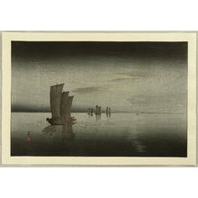 Ohara Koson: Fishing Boats - Artelino