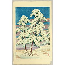 Kawase Hasui: Pine Trees After Snow - Artelino