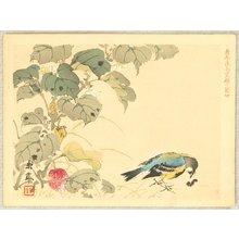 今尾景年: Keinen Kacho Gakan Juni Zu - Bird and Catapillar - Artelino