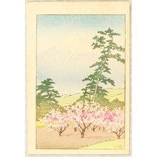 川瀬巴水: Mt. Fuji and Suzukawa - Artelino