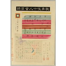 Torii Kiyosada: Index Page - Kabuki Juhachi Ban - Artelino