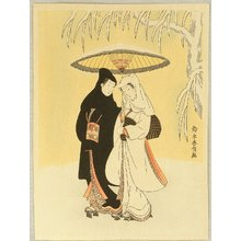鈴木春信: Lovers in Snow - Artelino