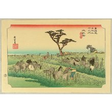 歌川広重: Fifty-three Stations of the Tokaido (Hoeido) - Chiryu - Artelino