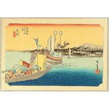 Utagawa Hiroshige: 53 Stations of the Tokaido - Arai (Hoeido) - Artelino