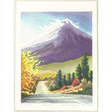 両角修: Evening Light at Mt. Fuji - Japan - Artelino