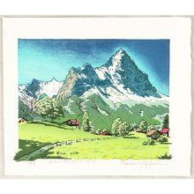 Morozumi Osamu: Beautiful Village between the Mountains - Switzerland - Artelino