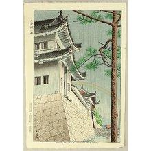 Fujishima Takeji: Drizzling Rain at Nijo Castle - Artelino