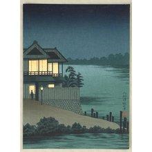 Kobayashi Kiyochika: House near a Lake - Artelino
