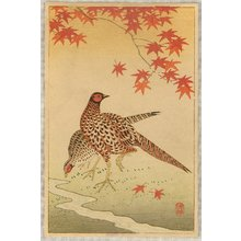 Ohara Koson: Pheasants - Artelino