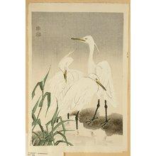 Kotozuka Eiichi: Three Snowy Herons - Artelino