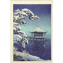 風光礼讃: Snow at ukimido, Katada - Artelino