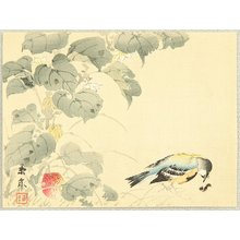 今尾景年: Bird and Lantern Plant - Artelino