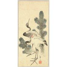 Katsushika II Taito: Cranes and Pine - Artelino