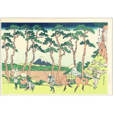 Katsushika Hokusai: Thirty-six Views of Mt.Fuji - Hodogaya - Artelino