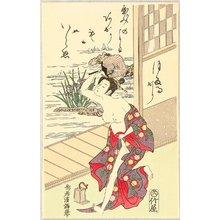 Torii Kiyomitsu: Beauty Catching Fireflies - Artelino