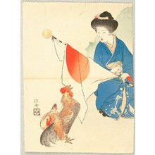 Takeuchi Keishu: Beauty and Rooster - Artelino