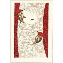 Kawano Kaoru: Girl and Woodpecker - Artelino