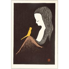 Kawano Kaoru: Girl and Yellow Bird - Artelino