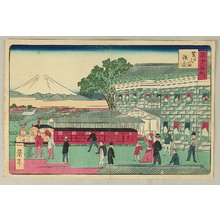 一景: Famous Places of Tokyo - Steam Train at Yokohama - Artelino