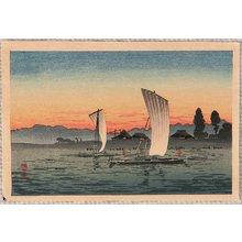 Takahashi Hiroaki: Sail Boats at Sunset - Artelino