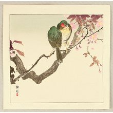 Seiko: Green Birds on a Branch - Artelino