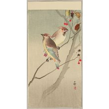 Ohara Koson: Two Japanese Waxwings in Autumn - Artelino