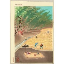 Ono Bakufu: Farmer's Family in Autumn Harvest - Artelino