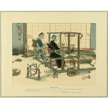 Wada Sanzo: Sketches of Occupations in Showa Era - Women Weavers - Artelino