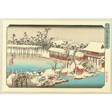 Utagawa Hiroshige: Famous Places of Eastern Capital - Snow at Kameido - Artelino