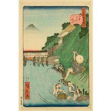 Utagawa Hirokage: Humorous Scenes at the Famous Places of Edo - No. 4 - Artelino