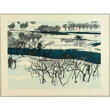 Kitaoka Fumio: Snow on the Riverbank - Artelino