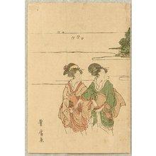 Utagawa Toyohiro: Two Beauties at a Shore - Artelino