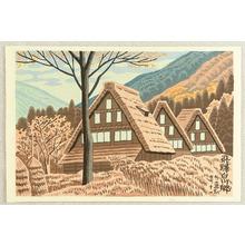 藤島武二: Village Houses at Shirakawa - Artelino