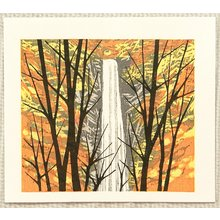 Kitaoka Fumio: Waterfall in Autumn - Artelino
