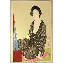 橋口五葉: Woman in a Summer Kimono - Artelino