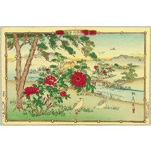 Utsushi Rinsai: Rinsai's Bird and Flowers - Pigeons and Peony - Artelino