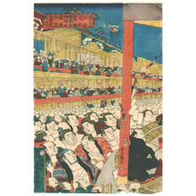 Utagawa Kunisada: Sumo Spectators - Artelino