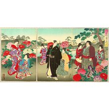 Toyohara Chikanobu: Customs and Manners of Edo 12 Months - April - Artelino
